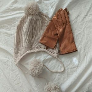 H&M Faux leather gloves